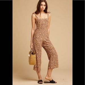 NWT Faithfull the Brand Elsa Jumpsuit Animal Print